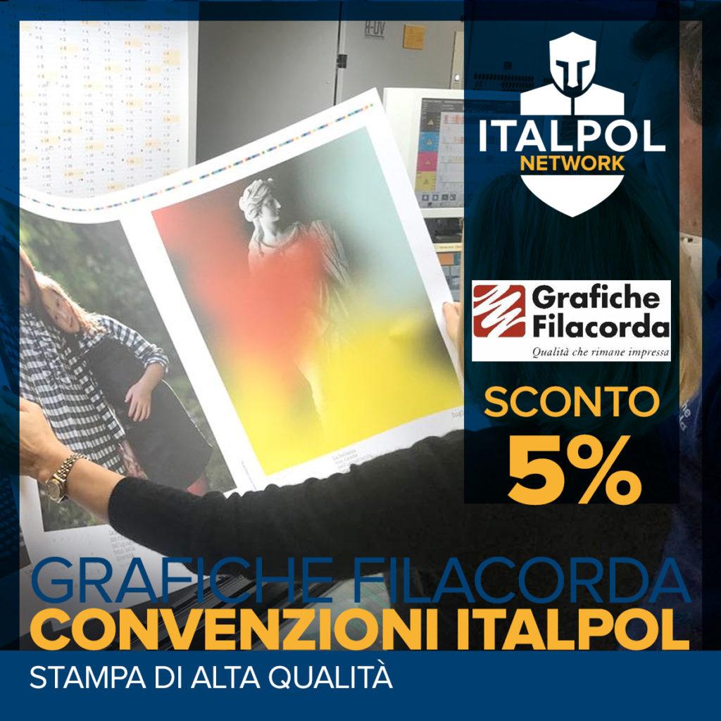 Grafiche Filacorda convenzione italpol