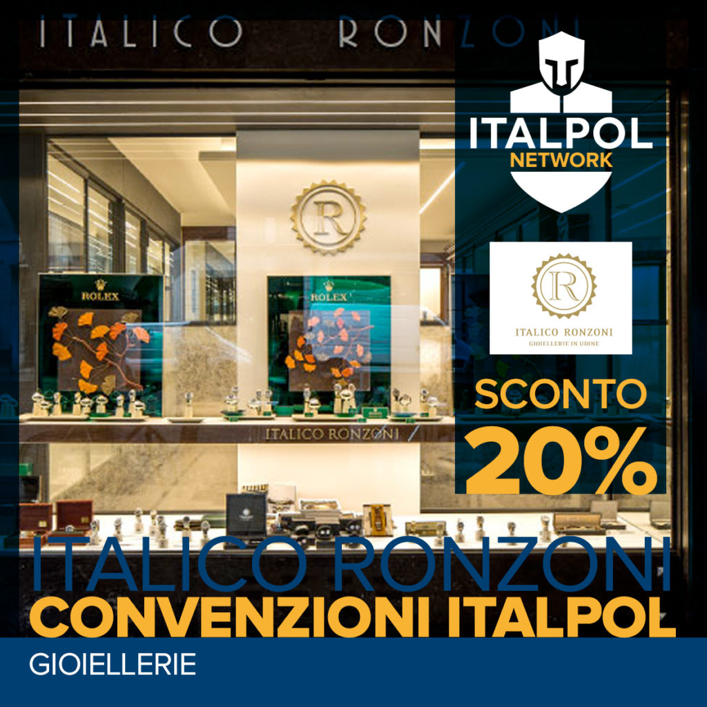 Italico Ronzoni Gioiellerie - convenzioni Italpol